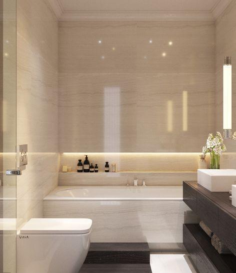 ванна бежевый мрамор