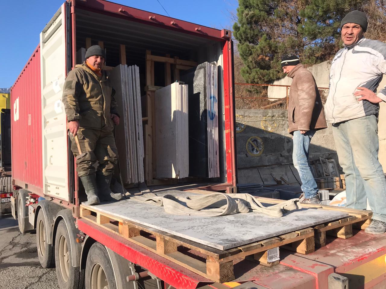 поставка камня из Турции
