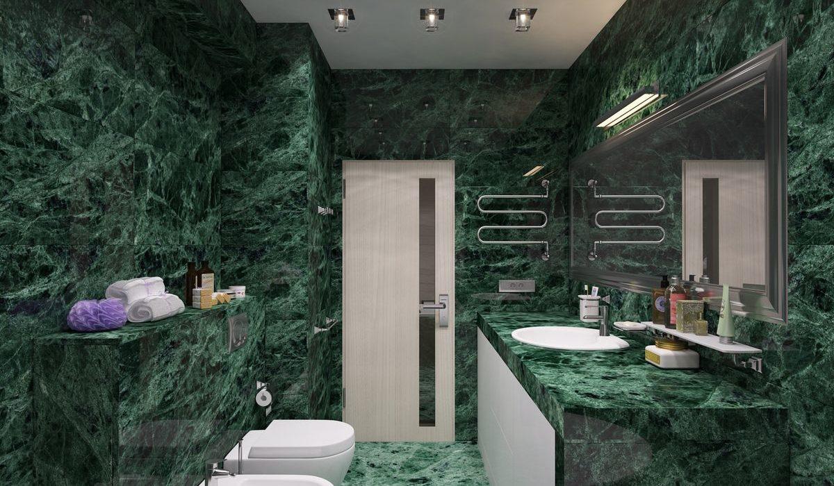 столешница из мрамора ванная