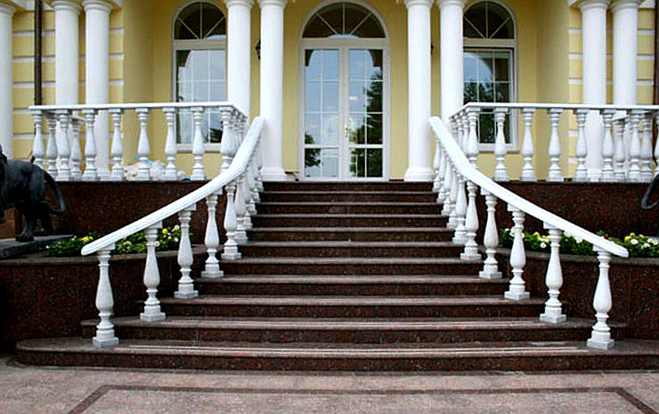 облицовка лестницы камнем