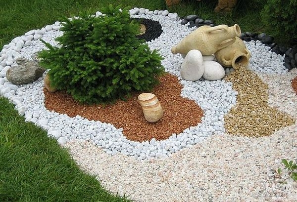 мраморная крошка в ландшафтном дизайне