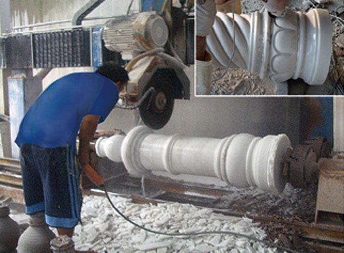колонны из мрамора изготовление