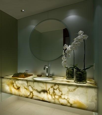 столешница для ванной из камня