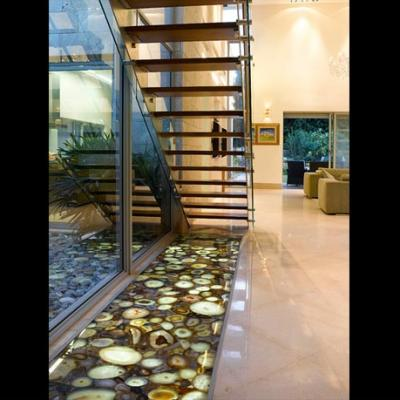 Majesticstairs Majestic Gemstone Slab Polished Brown Israel Stairs
