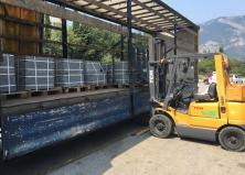 Гранит покостовский поступление на склад в Крыму